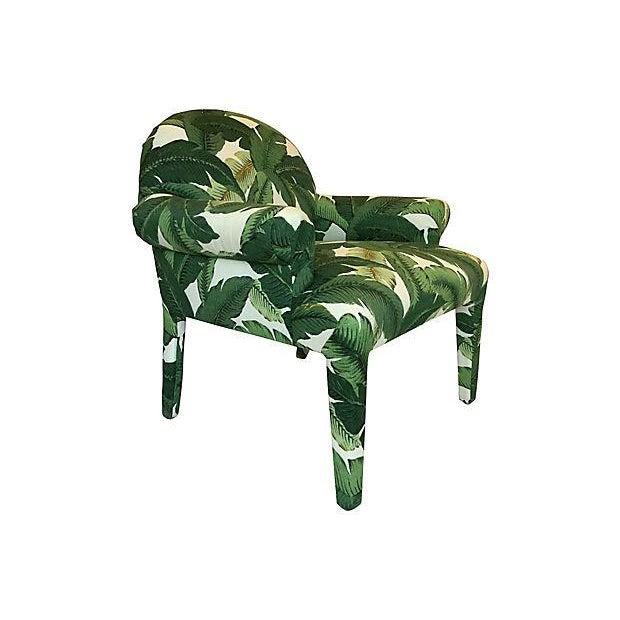 Palm Leaf Print Armchairs A Pair Chairish