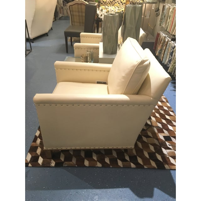 Image of Gotham Creme Leather Chair