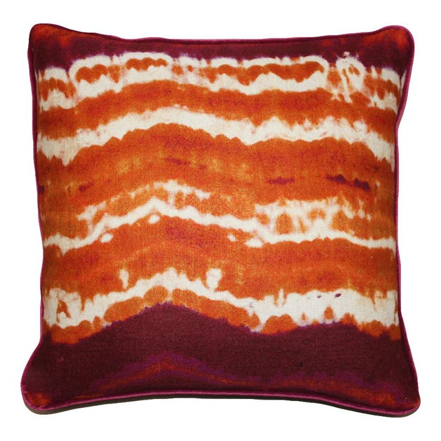 Modern Orange Pillow : Kim Salmela Modern Orange Pillow Chairish