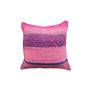 Pink & Purple Peruvian Frazada Pillow