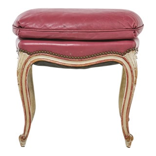 French Vintage Painted Stool