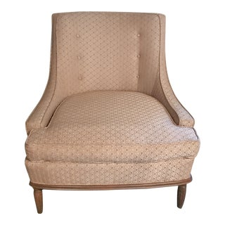 Mid-Century Modern Pale Pink Accent Chair