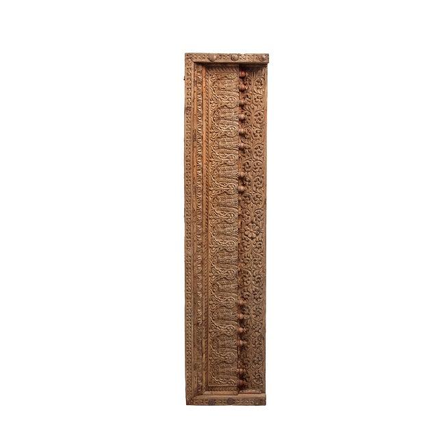 Antique Floral & Leaf Wood Carved Panel - Image 2 of 7