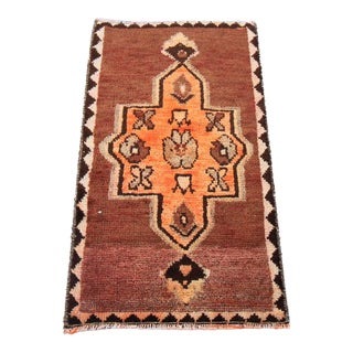 "Vintage Tribal Oushak Turkish Rug - 1'7"" x 2'9"""