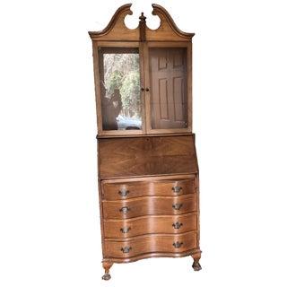 Antique Walnut Secretary Desk