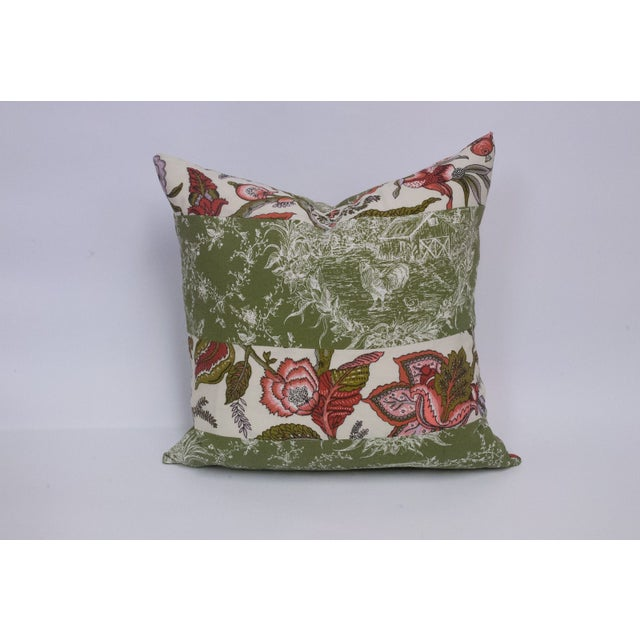Toile & Vintage Floral Pillows - A Pai - Image 5 of 8