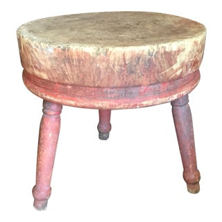Round Early American Butcher Block