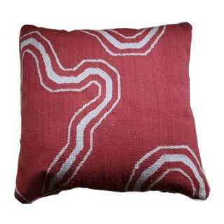 Double Sided Red & Taupe Throw Pillow