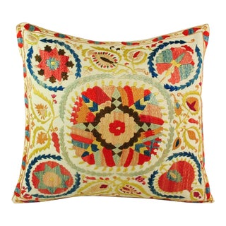 "Uzbek Suzani Pillow Cover VII - 16"" X 16"""