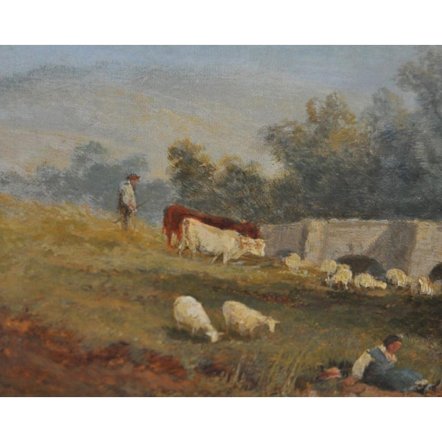 "James Baker Pyne ""Downham, Norfolk"" Original Oil Painting - Image 5 of 11"