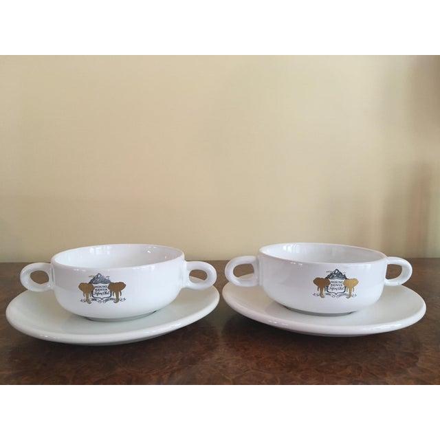 Mount Kenya Safari Club Soup Bowls With Saucers - A Pair - Image 2 of 5