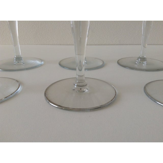 Sterling Floral Etched Cut Champagne Coupes- Set of 6 - Image 8 of 8