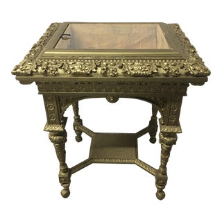 Victorian French Antique Vitrine Table