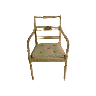 Antique Regency Painted Armchair