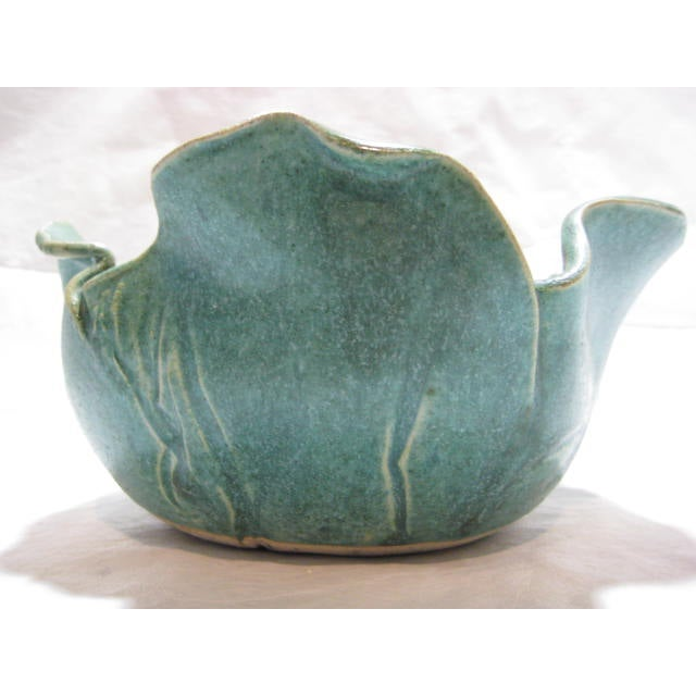 Handmade Vintage Flower Form Art/Pottery Bowl - Image 5 of 9