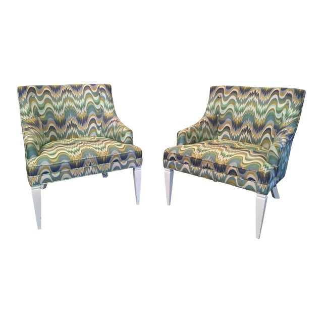 Jonathan Adler Haines Chairs - A Pair - Image 1 of 11