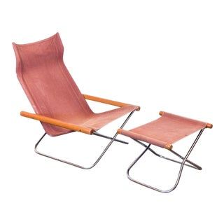 NY Sling Chair and Footstool by Takeshi Nii