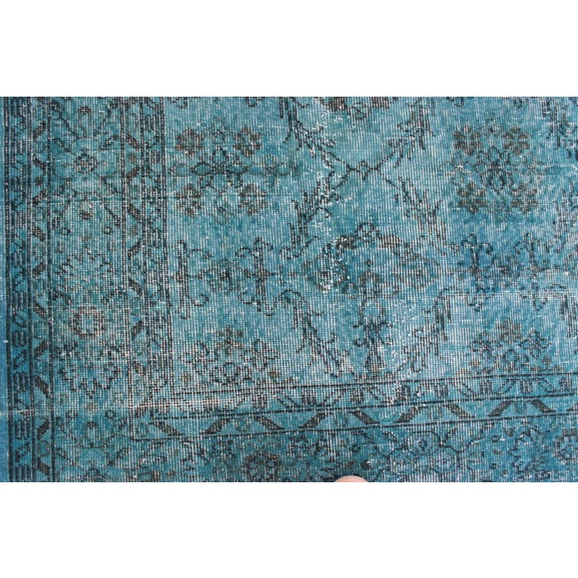 Turquoise Overdyed Rug - 6'7'' x 10' - Image 5 of 7