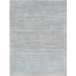 "Pasargad Transitional Bamboo Silk & Wool Area Rug - 9'1"" X 12'"