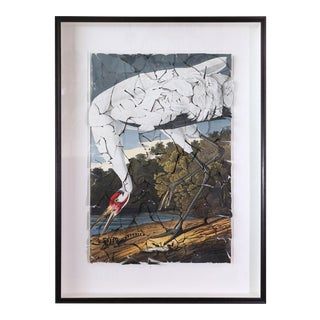 Butterfly Box 'Whooping Crane' Print