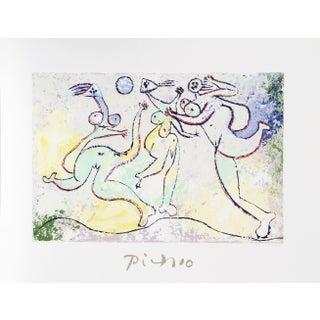 Pablo Picasso - Trois Femmes Jouant Au Ballon Sur