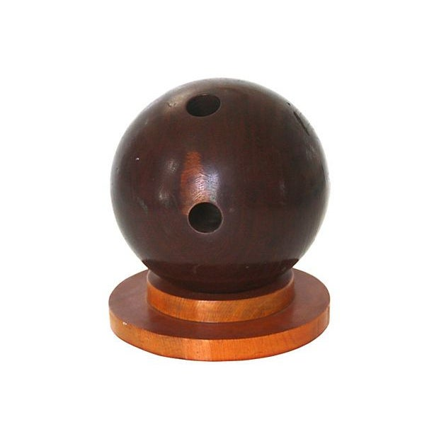 19th Century Lignum Vitae Bowling Ball - Image 1 of 4