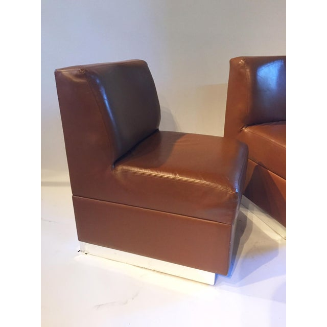 1970s Gucci Leather Slipper Chairs - a Pair - Image 6 of 8