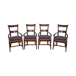 French Country Rush Seat Dining Chairs - Set of 4