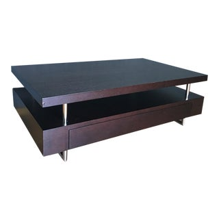 BDI Strata Wood & Metal Coffee Table with Drawers