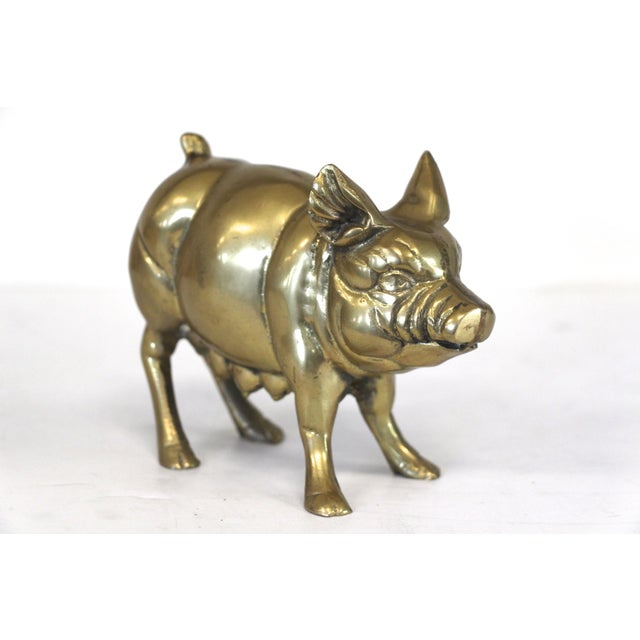 Brass Mother Pig Figurine - Image 4 of 5