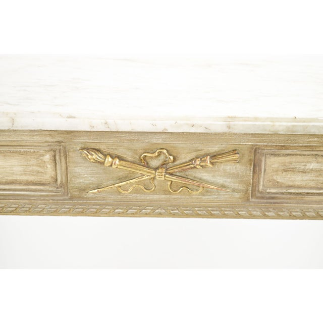 Marble-Topped French Style Console Table - 1940s - Image 4 of 8