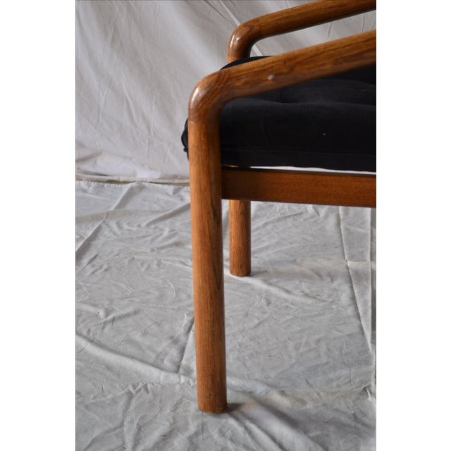 1970s Oak Dining Chairs - Set of 4 - Image 5 of 5