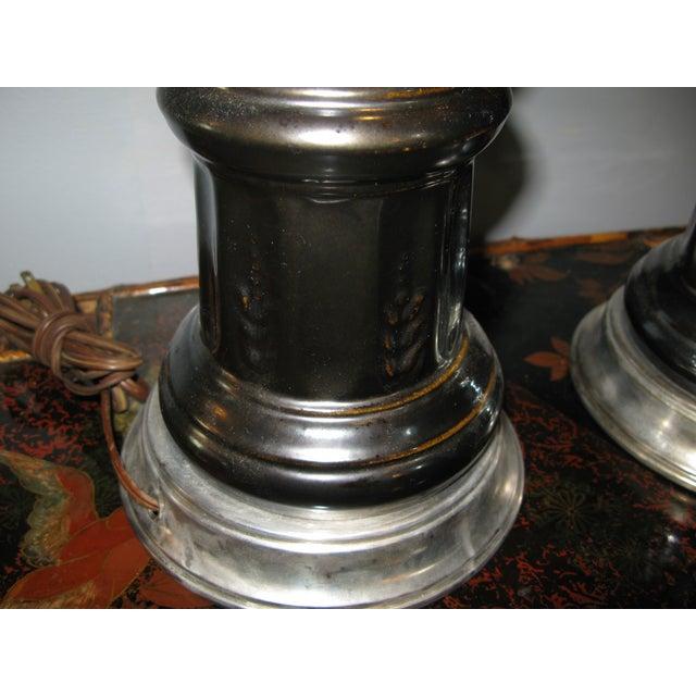 Image of Mid-Century Ceramic Horse Lamps - A Pair