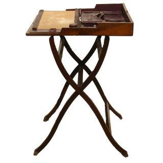 19th C. English Folding Campaign Desk