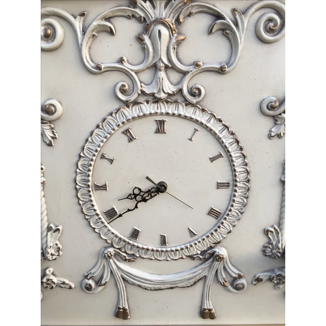 Hollywood Regency Very Large Gold Gilt Framed Clock With Shelves - Image 5 of 7