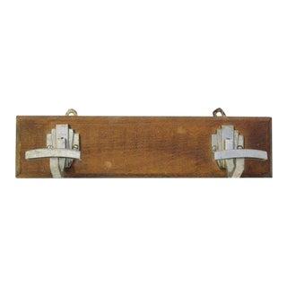 Aluminum Deco Hooks on Wooden Plank
