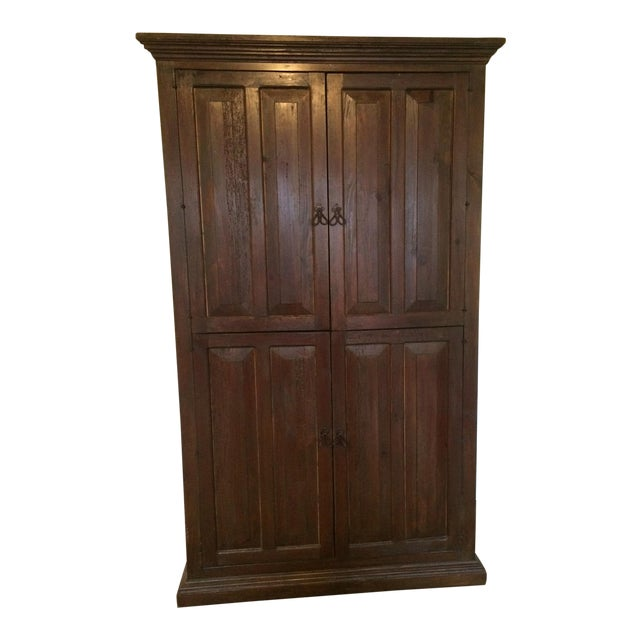 Image of Solid Wood Wardrobe Cabinet