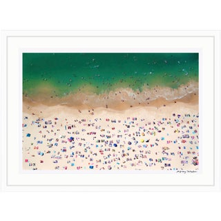 """Gray Malin Large Limited Edition Framed """"Coogee Beach"""" (à La Plage) Signed Print"""