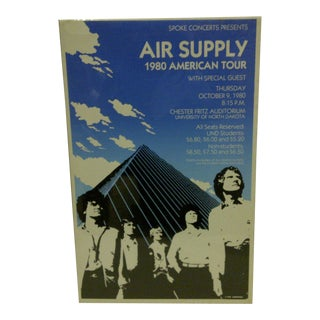 "1980 Vintage ""Air Supply"" Concert Poster"