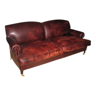 Classic George Smith Leather Sofa