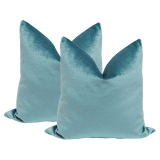 "22"" Caribbean Luxe Velvet Pillows - a Pair"