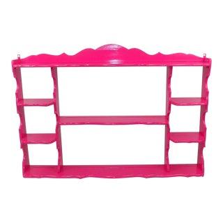 Vintage Pink Wall Shelf