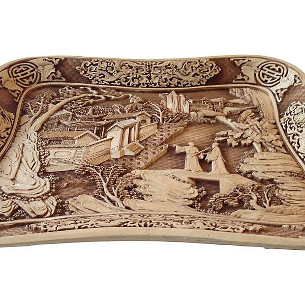 Carved Chinoiserie Pagoda Tray - Image 6 of 6