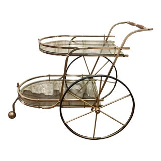 Brass Art Deco Bar Cart