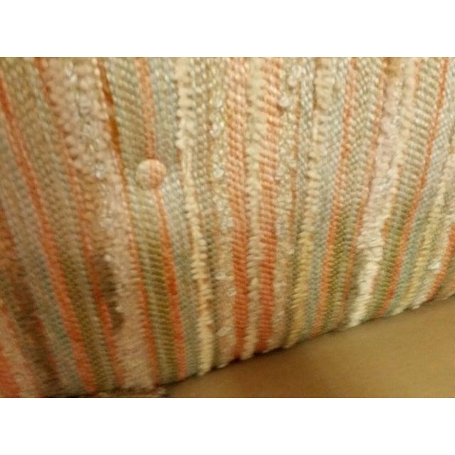 Mid-Century Pastel Stripes Tufted Sofa - Image 5 of 8