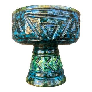 Mid-Century Italian Geometric Pedestal Dish
