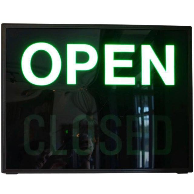 'Open / Closed' Illuminated LED Light Box, Circa 1980s - Image 1 of 6
