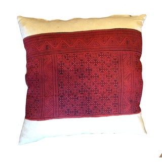 Indonesian Red Pillow