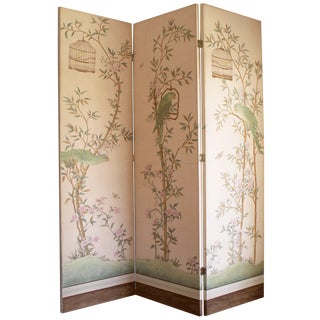 Chinoiserie Style Folding Screen