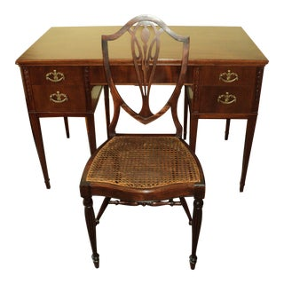 Antique Mahogany Writing Desk & Chair